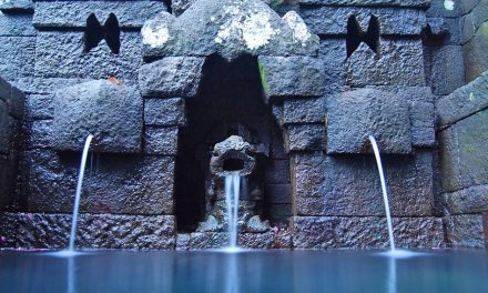 The Sacred Spring in Jolotundo Temple and the sacred sites on Mount Penanggungan